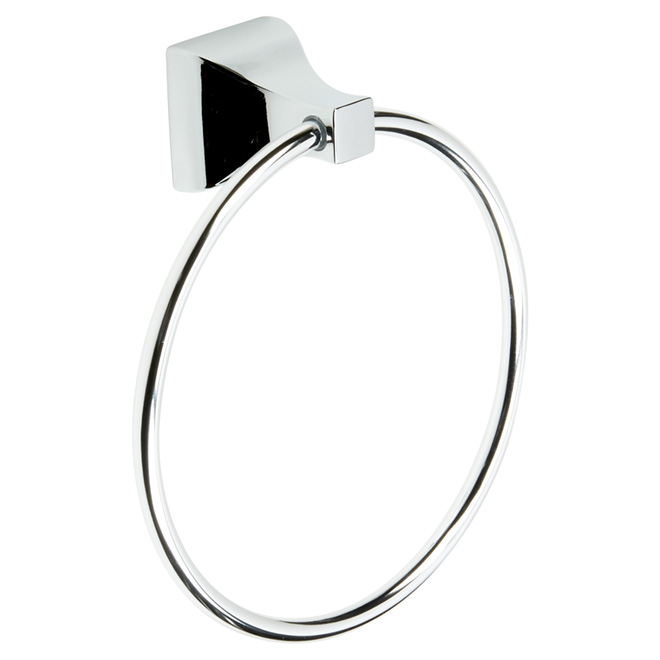 "Towel Holder - ""Dixon"" Towel Ring - Polished Chrome"
