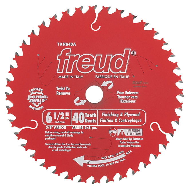 "Finishing Circular Saw Carbide Blade- 6 1/2"" -40TH"