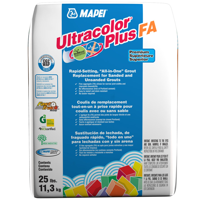 """Ultracolor Plus"" Floor Grout 11.3kg - Pearl Grey"