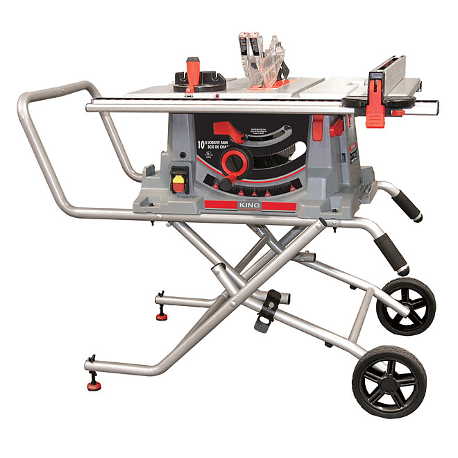 10 In Jobsite Table Saw With Folding Stand Rona
