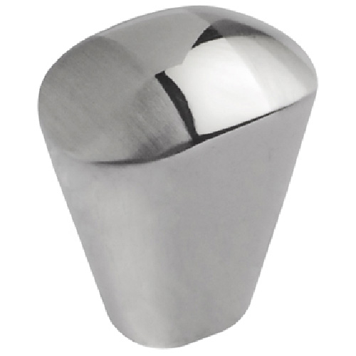 Metal Knob Chrome and Brushed Nickel