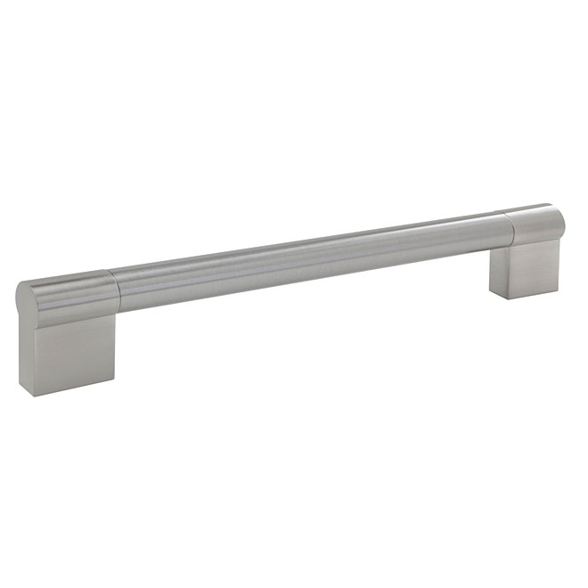 """Contemporary"" Stainless Steel and Steel Handle Pull"