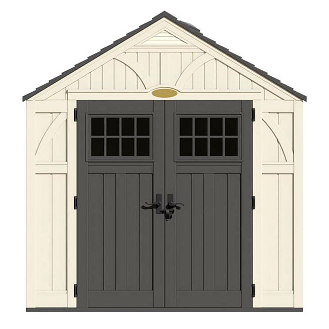 Free storage shed plans 8x10 outdoor storage sheds rona for Porte exterieur rona