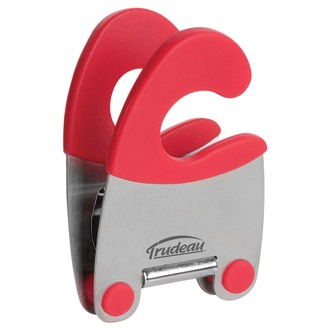 Pince porte-ustensile en silicone, rouge