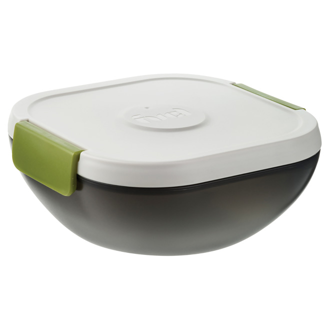 Salad Container - Plastic - White/Green
