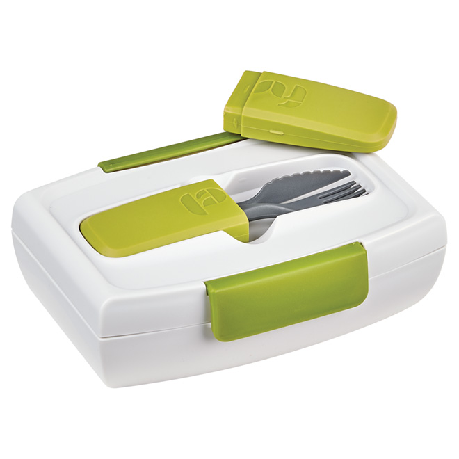 Lunch Container with Cutlery - 1 L - Green