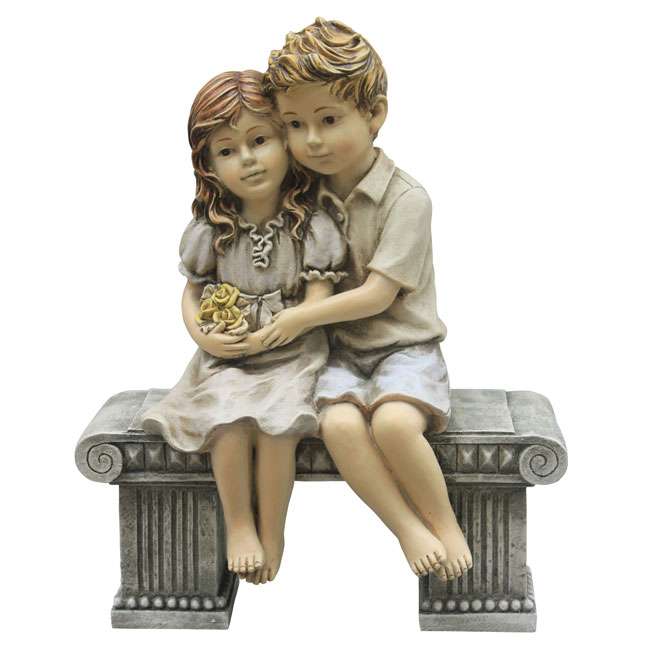 """Kids on Bench"" Statue"