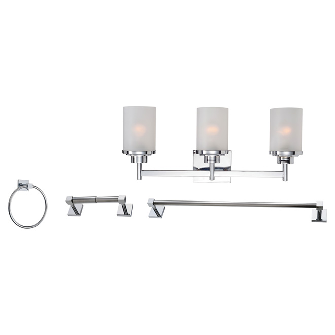 3 light vanity light and bathroom accessories set chrome rona 3 light vanity light and bathroom accessories set chrome mozeypictures Images