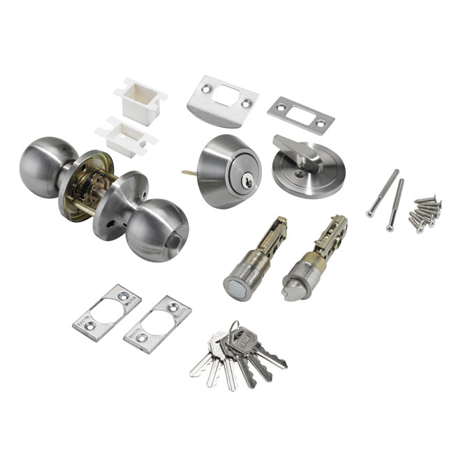 Quot Bola Quot Entrance Door Knob And Deadbolt Combo Rona