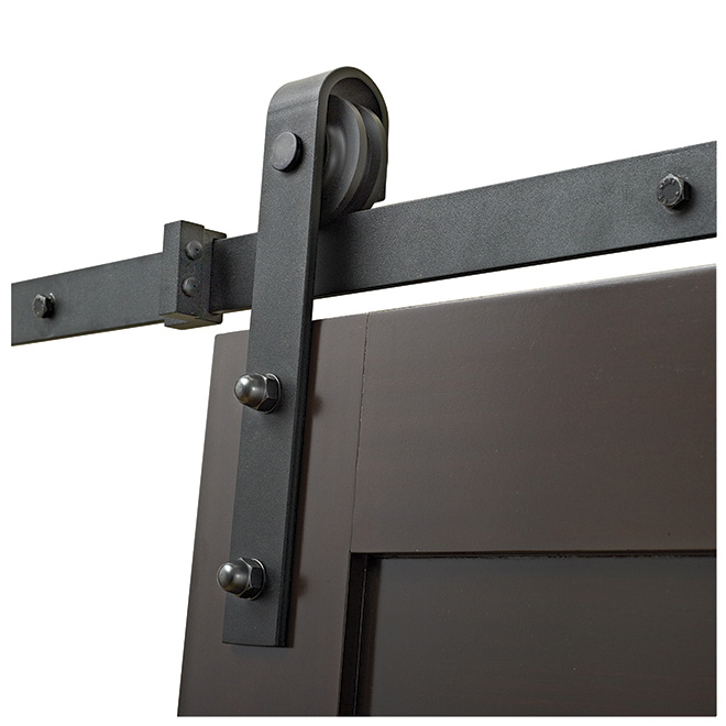 Barn sliding door rail black rona for Masonite porte exterieur