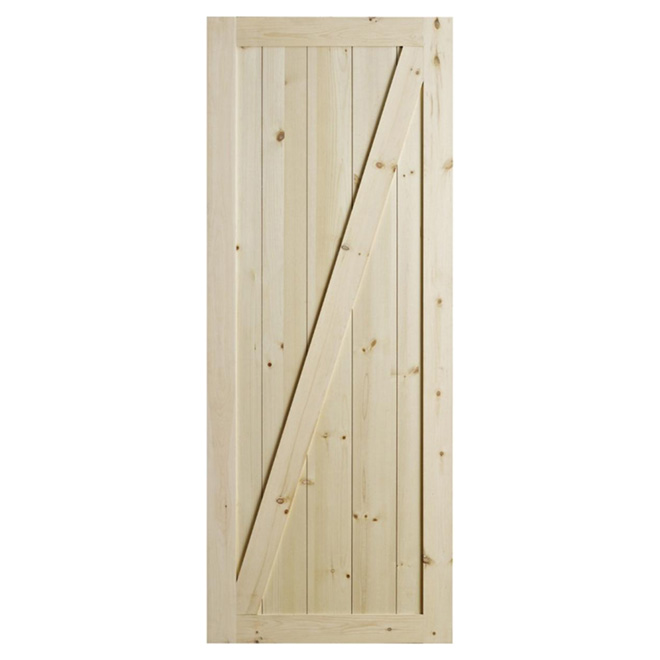 Porte chalet en pin 33 x 84 rona for Moulure porte exterieur