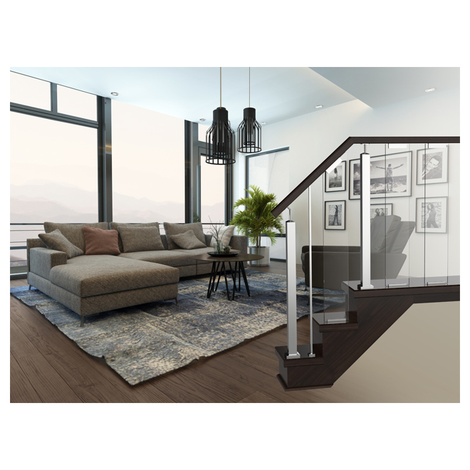 panneau en verre pour rampe verona escalier rona. Black Bedroom Furniture Sets. Home Design Ideas