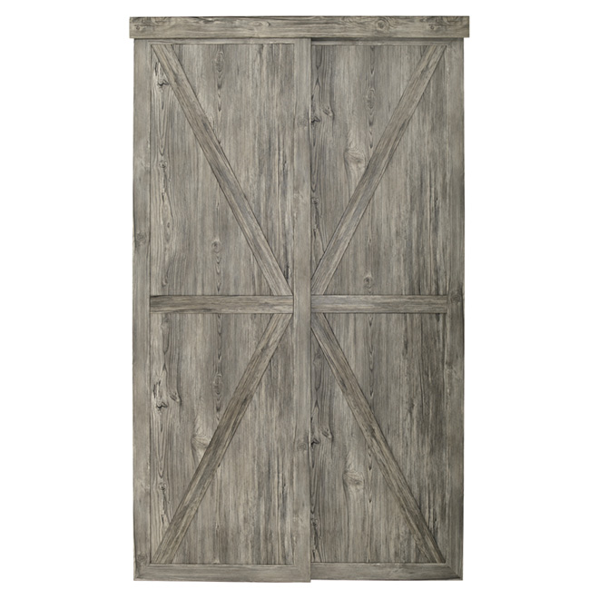 "Countryside Sliding Door - Antique - 48"" x 80 1/2"""