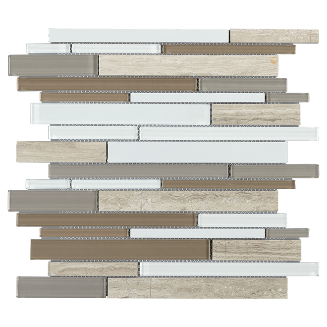 Glass/Marble Wall Tiles - Emporia Mosaic - 6/Box