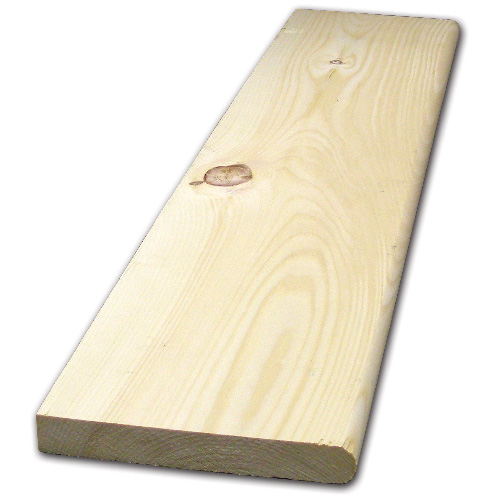 White Pine Board 2 in x 10 in x 8 ft - Natural