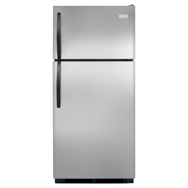 "Top-Freezer Refrigerator - 28"" - 16.3 cu. ft. - Steel"