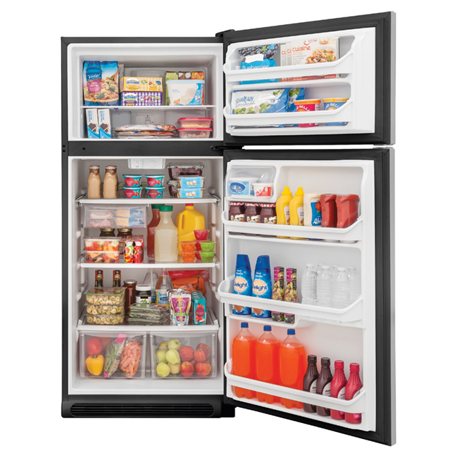 Top-Freezer Refrigerator 18 cu. ft. - Stainless