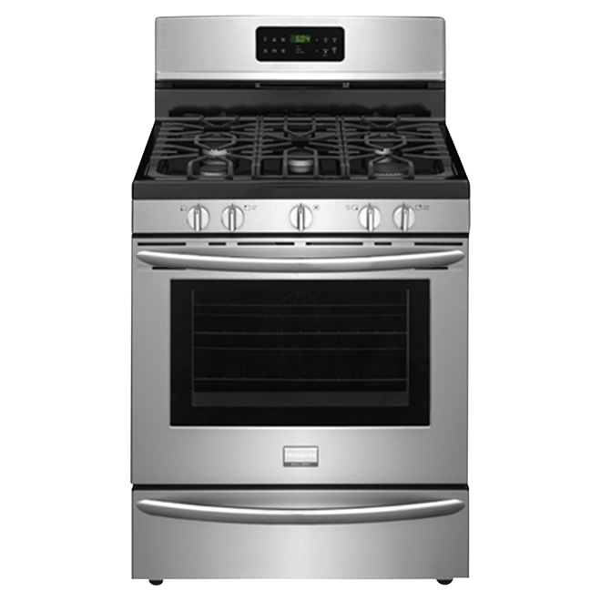 Freestanding Gas Range - 5 cu. ft. - Stainless Steel