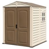 Storage Shed 6' x 6' - Beige/Brown