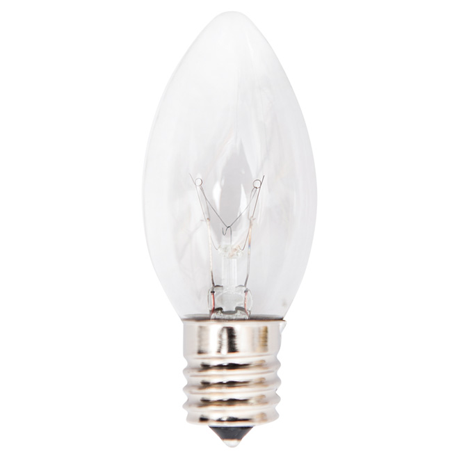 C9 Replacement Bulbs - 7W - Clear - 25-Pack
