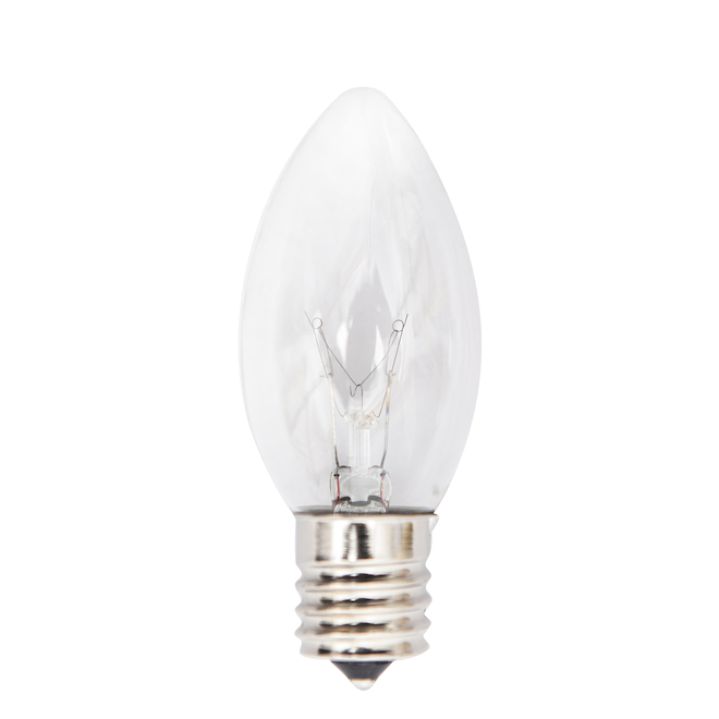 C9 Replacement Bulbs - 7W - Clear - 4-Pack