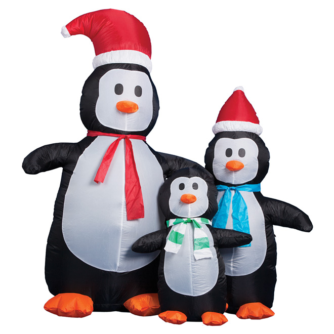 Inflatable Lighted Penguin - 3-Piece Set