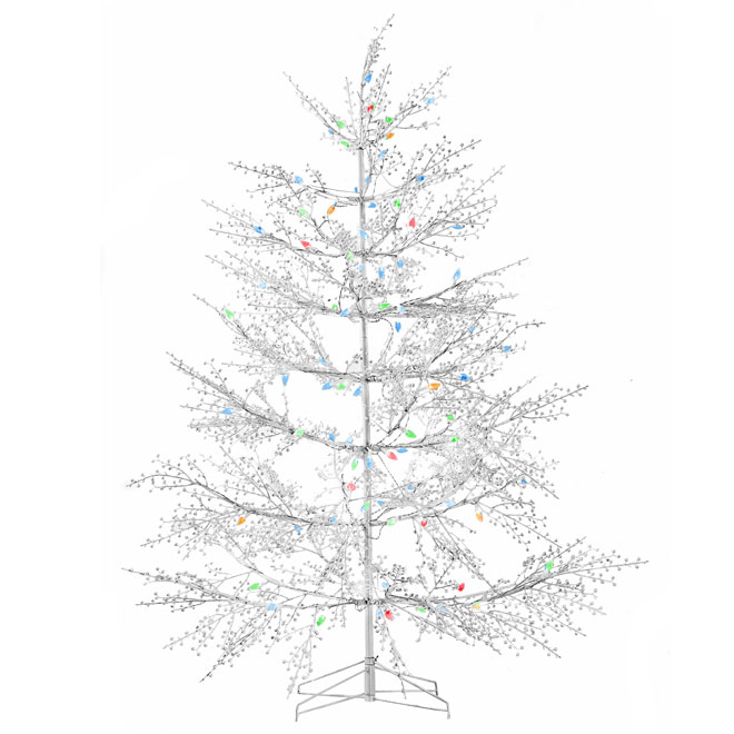 Outdoor Pre-Lit White Christmas Tree - 104 LED - 5'