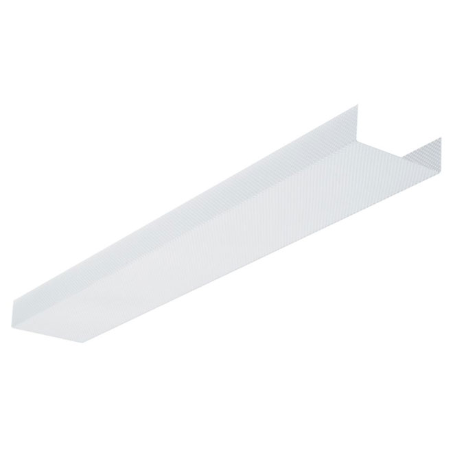 Fluorescent Light Lens : Fluorescent light fixture replacement lens quot rona