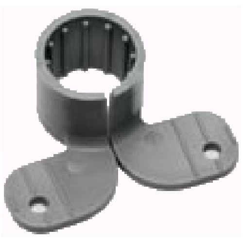"3/4"" Grey Polypropylene Pipe Half Clamp in 6-Pack"