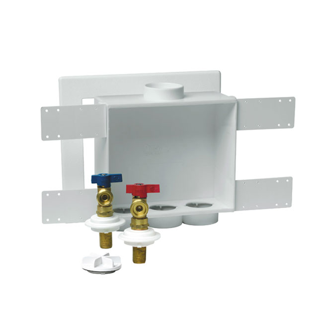 "Two-Valve Washing Machine Outlet Box - ""Quadtro"""