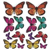 Peel and Stick Wall Decals - 3D Butterflies