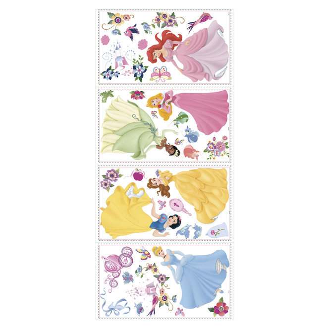 Peel and Stick Wall Decals - Disney Princess