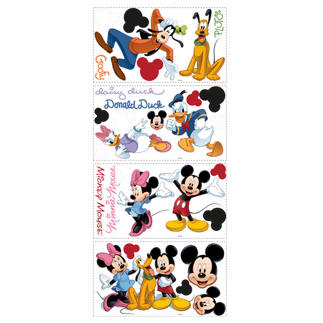 Peel and Stick Wall Decals - Mickey and Friends