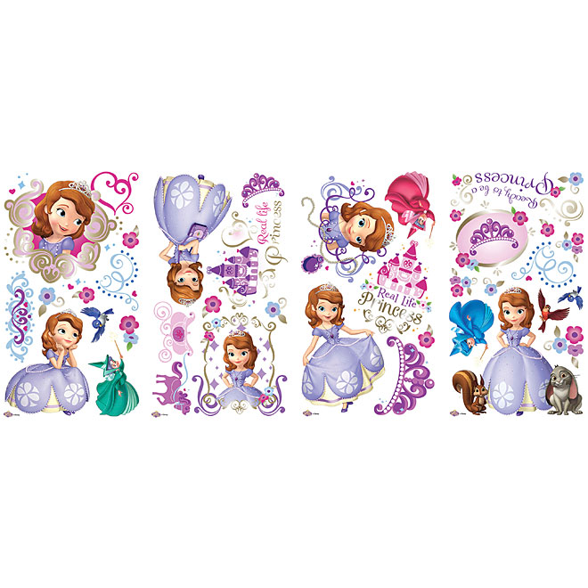 Peel and Stick Wall Decals - Sofia The First