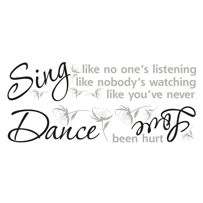 Peel and Stick Wall Decals - Dance, Sing, Love