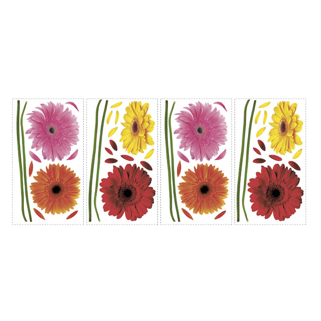 Peel and Stick Wall Decals - Small Gerber Daisies