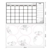 Peel and Stick Wall Decals - Dry Erase Calendar
