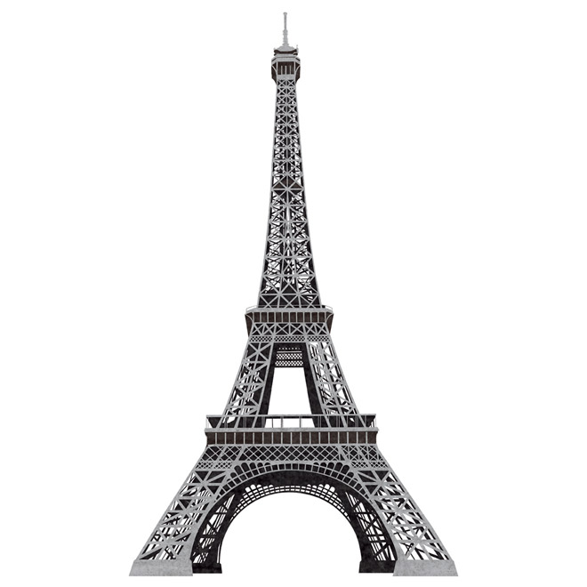 Peel and Stick Wall Decals - Eiffel Tower