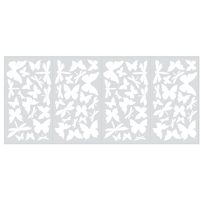 Peel and Stick Wall Decals - Butterfly and Dragonfly