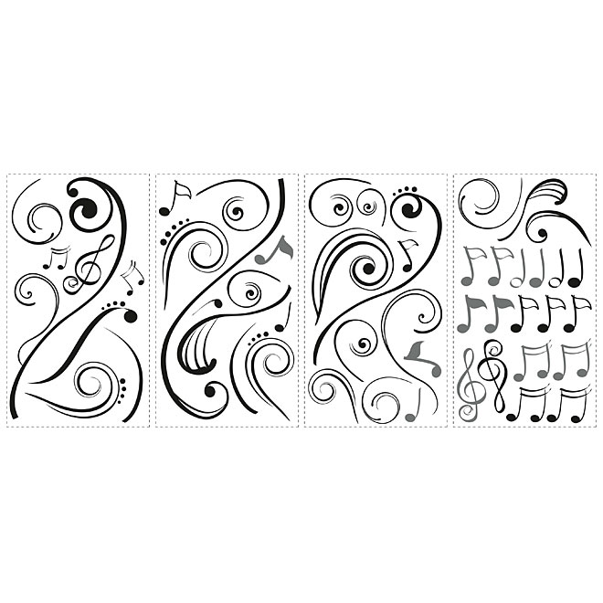 Peel and Stick Wall Decals - Music Notes