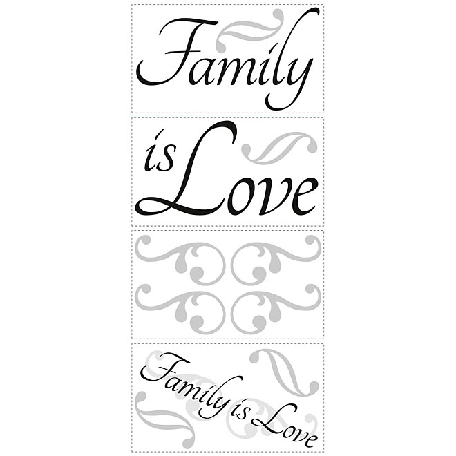 Appliqué mural autocollant «Family Is Love»