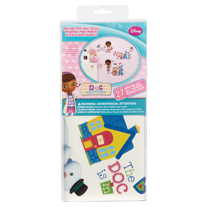 Peel and Stick Wall Decals - Doc McStuffins