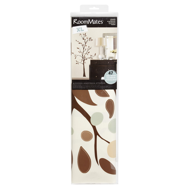 Appliqu mural autocollant g ant arbre rona for Collant mural