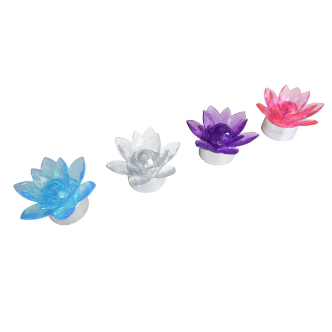 "Set of 4 ""Lotus"" LED Garden Lights"