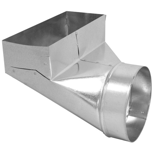 90° Angle Register Boot for Furnace Exhaust