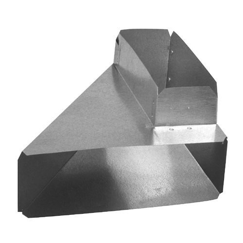 "90° Angle Galvanized Right Reverse Elbow 3 1/4"" x 10"""