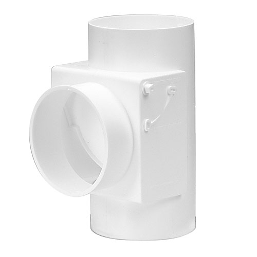 "4"" White Plastic Heat Saver with Filter"