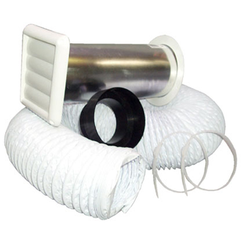 "White 4"" Bathroom Wall Vent Kit"