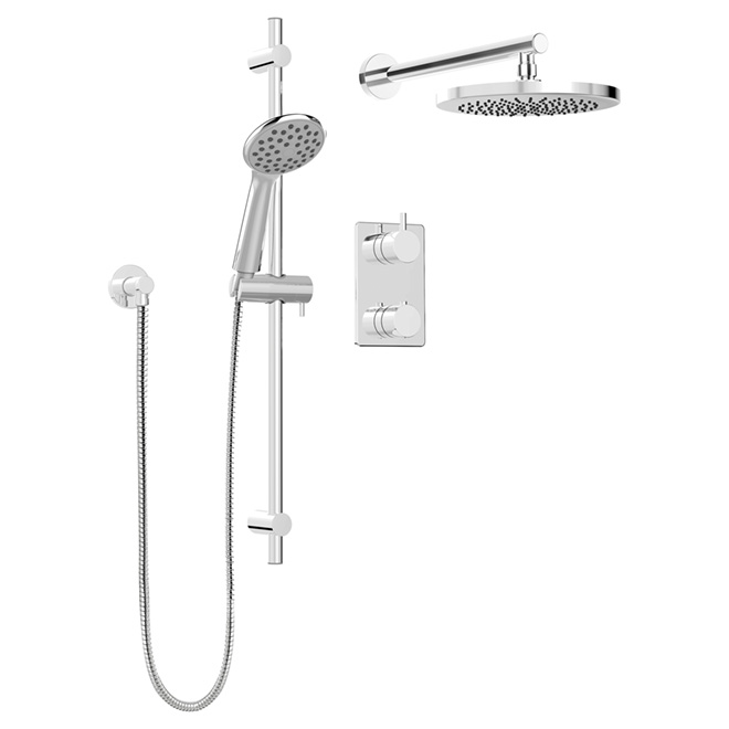 Hand Shower Rail Kit With Thermo Diverter Universal