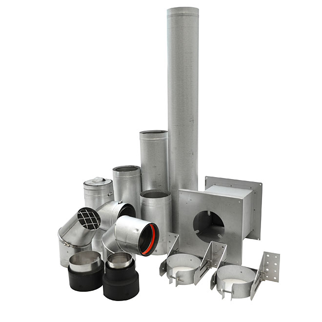 "4"" Pellet Vent Ground Floor Installation Kit"